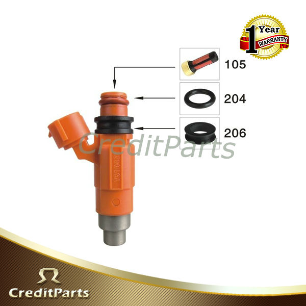 Mazda repair kit fuel injector includes filter,oring and pintle cap