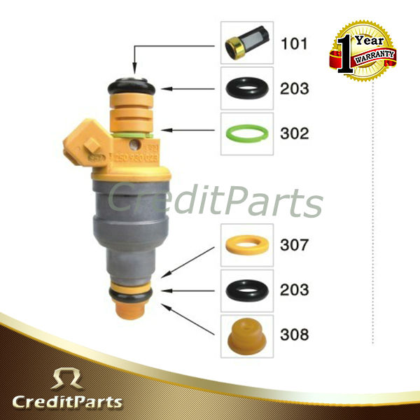 fuel injector service kits includes pintle cap ,viton oring and micro basket filter CF-001